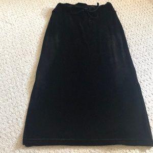 Other - 2 for $15 ❤️ Black Velvet Maxi Skirt